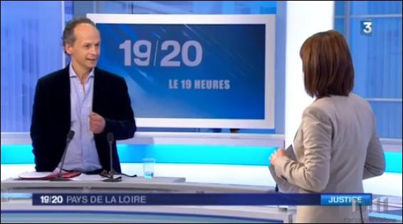 Stéphane Cottineau au JT de France 3 Pays de la Loire